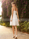 Short Wedding Dresses,Beach Wedding Dress,Wedding Dress with Straps,Summer Bridal Dress,WD00149