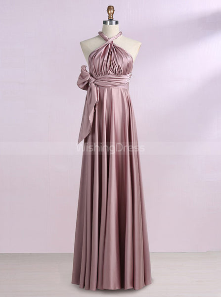 Silk Like Satin Bridesmaid Dresses,Long Bridesmaid Dress,Convertible Bridesmaid Dress,BD00278