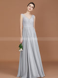 Silver Bridesmaid Dresses,Long Bridesmaid Dress,Elegant Bridesmaid Dress,BD00248