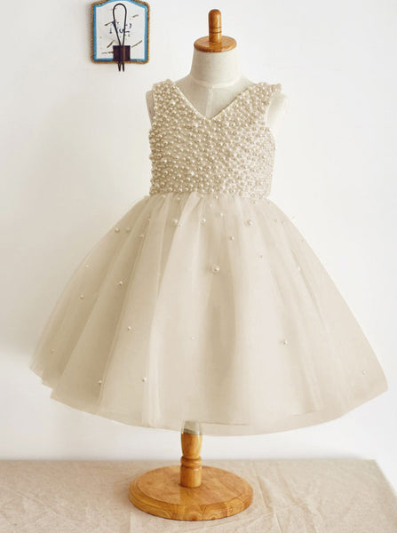 Silver Flower Girl Dress,Jeweled Flower Girl Dress,Princess Flower Girl Dress,FD00018