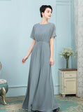Simple Mother of the Bride Dresses,Long Mother Dress,Mother of the Bride Dress with Sleeves,MD00007