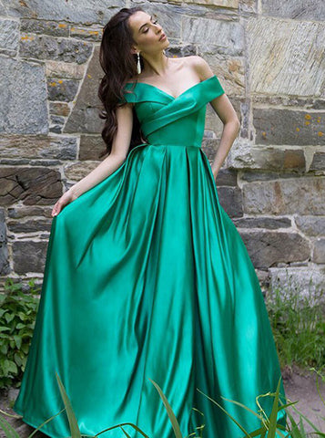 Simple Prom Dresses Long,Off the Shoulder Prom Dress,PD00453