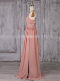 Spaghetti Straps Bridesmaid Dresses,Chiffon Long Bridesmaid Dress,BD00361