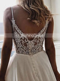 Boho Wedding Dresses,Chiffon Bridal Dresses,Beach Wedding Dresses,Casual Bridal Dress,WD00089