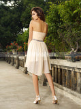 Sweetheart Neckline Homecoming Dresses,Chiffon High Low Homecoming Dress,HC00173