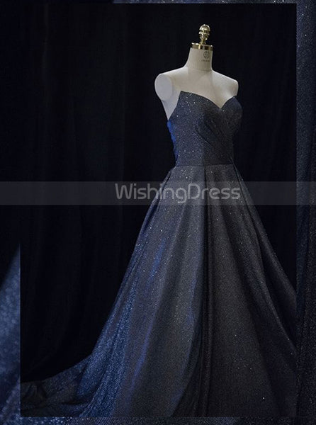 Sweetheart Prom Dresses,Long Sparkling Prom Dress,PD00375