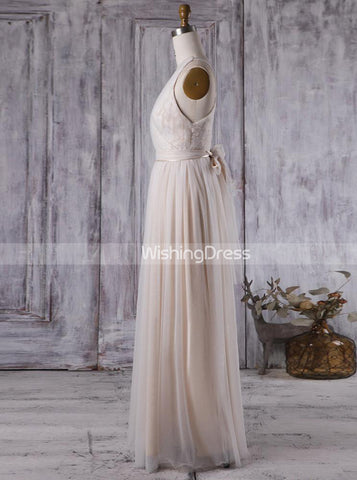 products/tulle-bridesmaid-dress-with-sash-floor-length-bridesmaid-dress-simple-bd00372-2.jpg