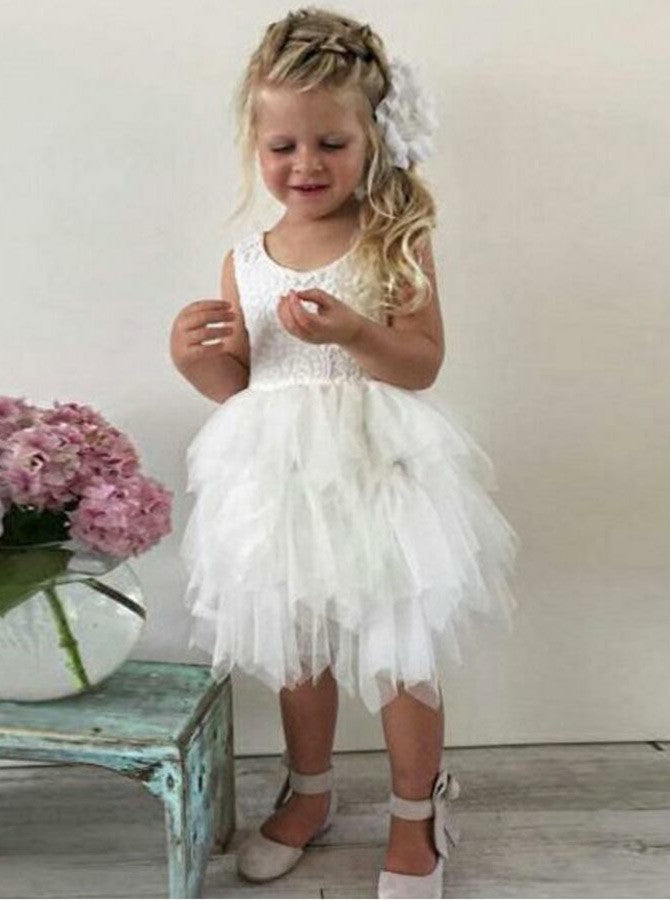 7dc846385 Tulle Flower Girl Dresses,Baby Flower Girl Dress,Cute Flower Girl Dress ,FD00023