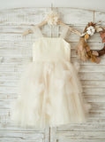 Tulle Flower Girl Dresses,Ivory Flower Girl Dress,Lovely Flower Girl Dress,FD00068