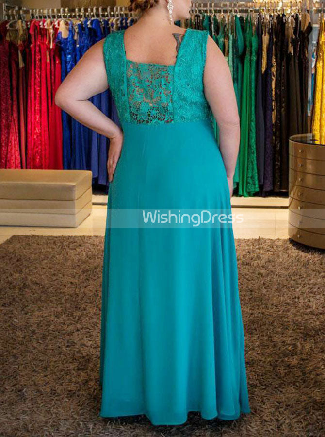 Turquoise Plus Size Dresses,Long Plus Size Prom Dress,PD00324