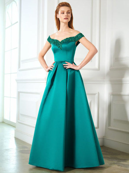 Turquoise Prom Dresses,Prom Dress with Pockets,A-line Prom Dress,PD00283