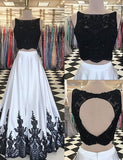 Two Piece Prom Dresses,Long Prom Dress,Modern Prom Dress,PD00273