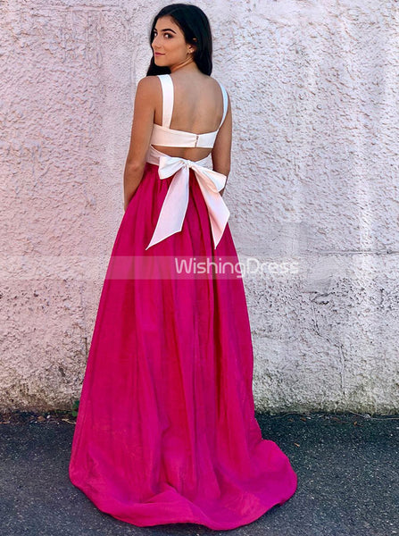 Two Piece Prom Dresses,Modest Prom Dress,Long Prom Dress,Two Tone Prom Dress,PD00278