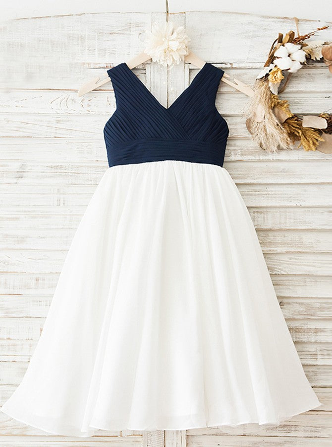 2fa3aef378 Two Tone Flower Girl Dresses