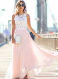 Two Tone Prom Dress,Lace Chiffon Prom Dress,Floor Length Prom Dress,Simple Prom Dress PD00185