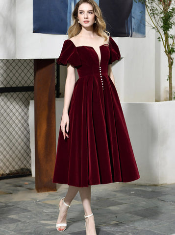 products/velvet-homecoming-dress-with-short-sleeves-burgundy-tea-length-dress-pd00467-1.jpg