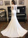Vintage Bridal Gowns,Mermaid Wedding Dress with Sleeves,WD00347