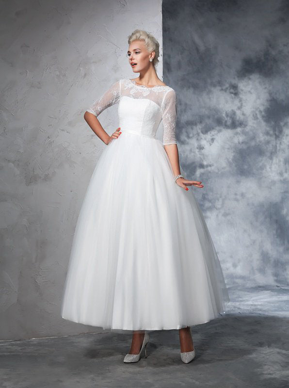 Vintage Wedding Gowns Bridal Gown With Sleeves Ankle