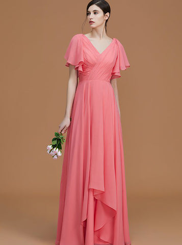 products/watermelon-bridesmaid-dresses-long-chiffon-bridesmaid-dress-bridesmaid-dress-with-sleeves-bd00258-1.jpg