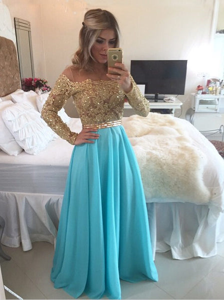 WaterMelon Prom Dresses,Prom Dress with Sleeves,Long Prom Dress,PD00330