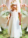White Flower Girl Dress,Long Flower Girl Dress,Cute Flower Girl Dress,FD00030