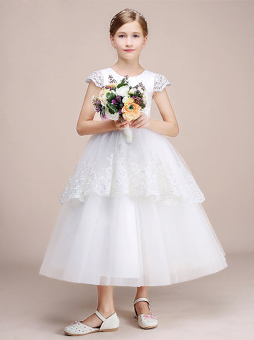 8139182a9 Buy white, ivory and purple junior bridesmaid dresses with sleeves ...