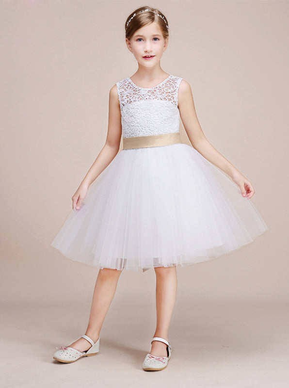3d098933ac White Junior Bridesmaid Dresses,Short Flower Girl Dress,Girl Birthday Dress ,BD00014