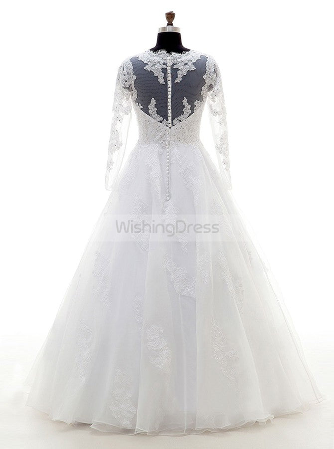 White Wedding Dress Plus Size Bridal Dress Wedding Dresses With