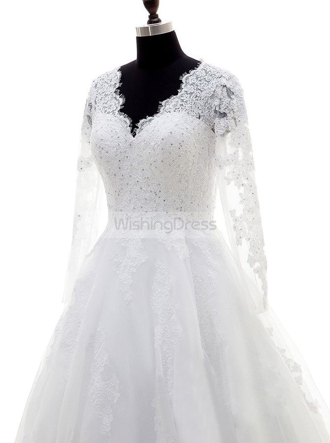 White Wedding Dress,Plus Size Bridal Dress,Wedding Dresses ...