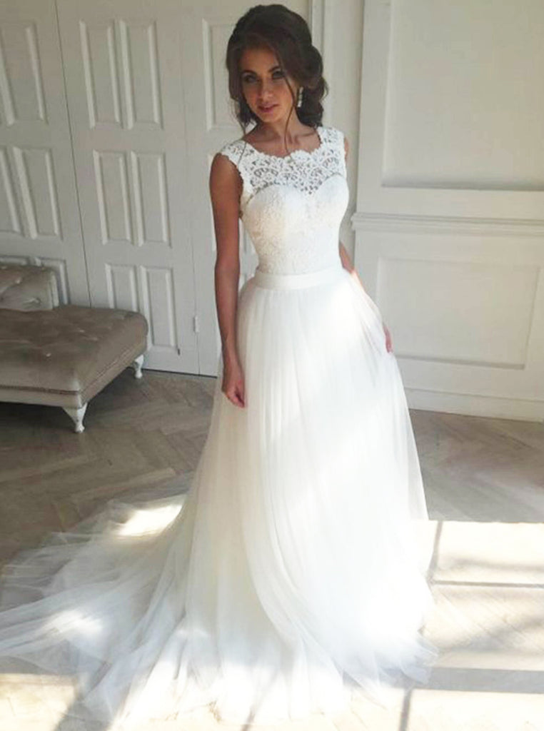 White Wedding Dressesball Gown Wedding Dresstulle Bridal Dress