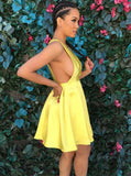 Yellow Homecoming Dresses,Sexy Cocktail Dresses,Short Homecoming Dress,HC00130