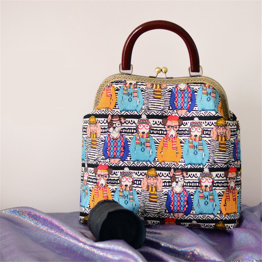 OneMe Mr.Dog Stylish Vintage Handbag