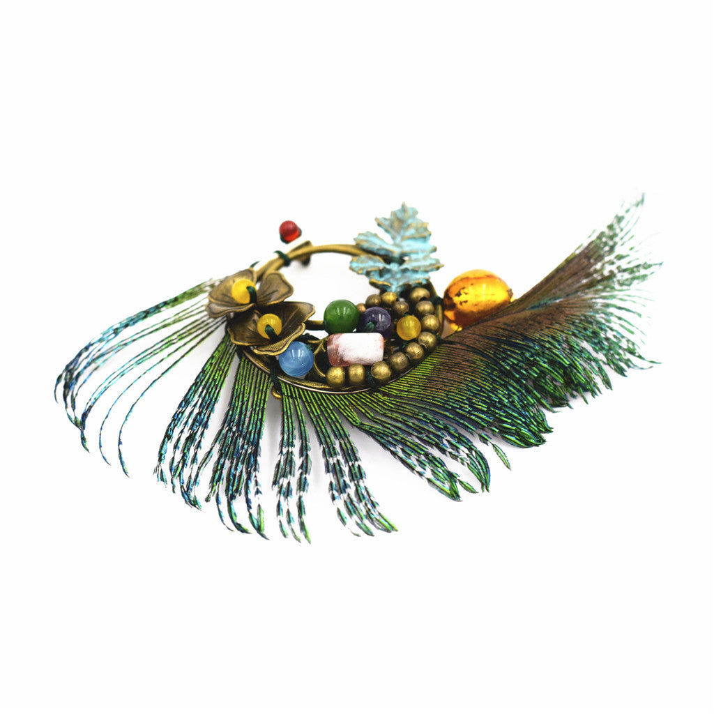OneMe Princess Peacock Brooch
