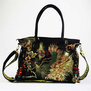 OneMe Phoenix World Embroidered Vintage Shoulder Bag