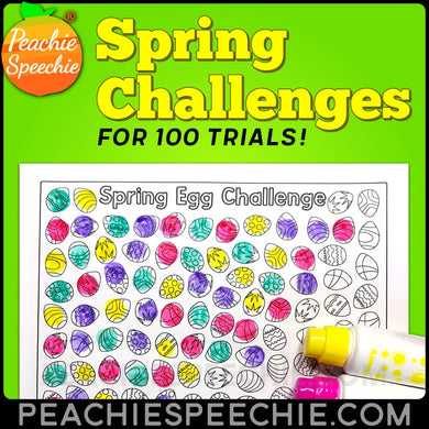100 Trials Articulation Spring Challenges by Peachie Speechie - Materials 100 Trials Articulation Spring Challenges by Peachie Speechie