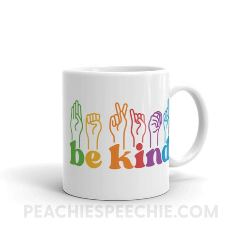 Be Kind Hands Coffee Mug - 11oz - Mugs Be Kind Hands Coffee Mug peachiespeechie.com