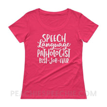 Load image into Gallery viewer, Womens Scoopneck Tee - Hot Pink / XS - T-Shirts & Tops Womens Scoopneck Tee peachiespeechie.com