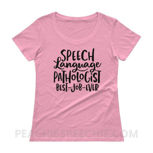 Womens Scoopneck Tee - CharityPink / XS - T-Shirts & Tops Womens Scoopneck Tee peachiespeechie.com