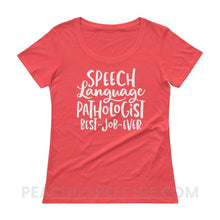 Load image into Gallery viewer, Womens Scoopneck Tee - Coral / XS - T-Shirts & Tops Womens Scoopneck Tee peachiespeechie.com