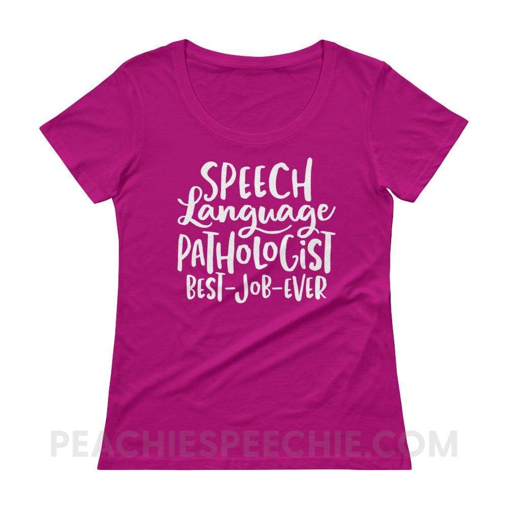 Womens Scoopneck Tee - Raspberry / XS - T-Shirts & Tops Womens Scoopneck Tee peachiespeechie.com