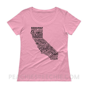 Womens Scoopneck Tee | California SLP - Charity Pink / XS - Womens Scoopneck Tee | California SLP peachiespeechie.com