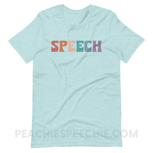 Colorful Speech Premium Soft Tee - Heather Prism Ice Blue / XS - T-Shirts & Tops Colorful Speech Premium Soft Tee peachiespeechie.com