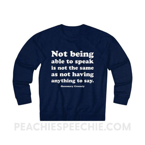 French Terry Sweatshirt | Crossely Quote - XS / Navy - Sweatshirt French Terry Sweatshirt | Crossely Quote peachiespeechie.com