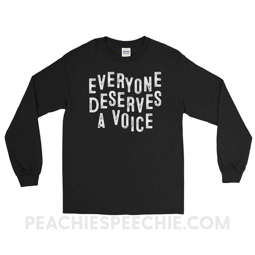 Long Sleeve Tee - Black / S - T-Shirts & Tops Long Sleeve Tee peachiespeechie.com