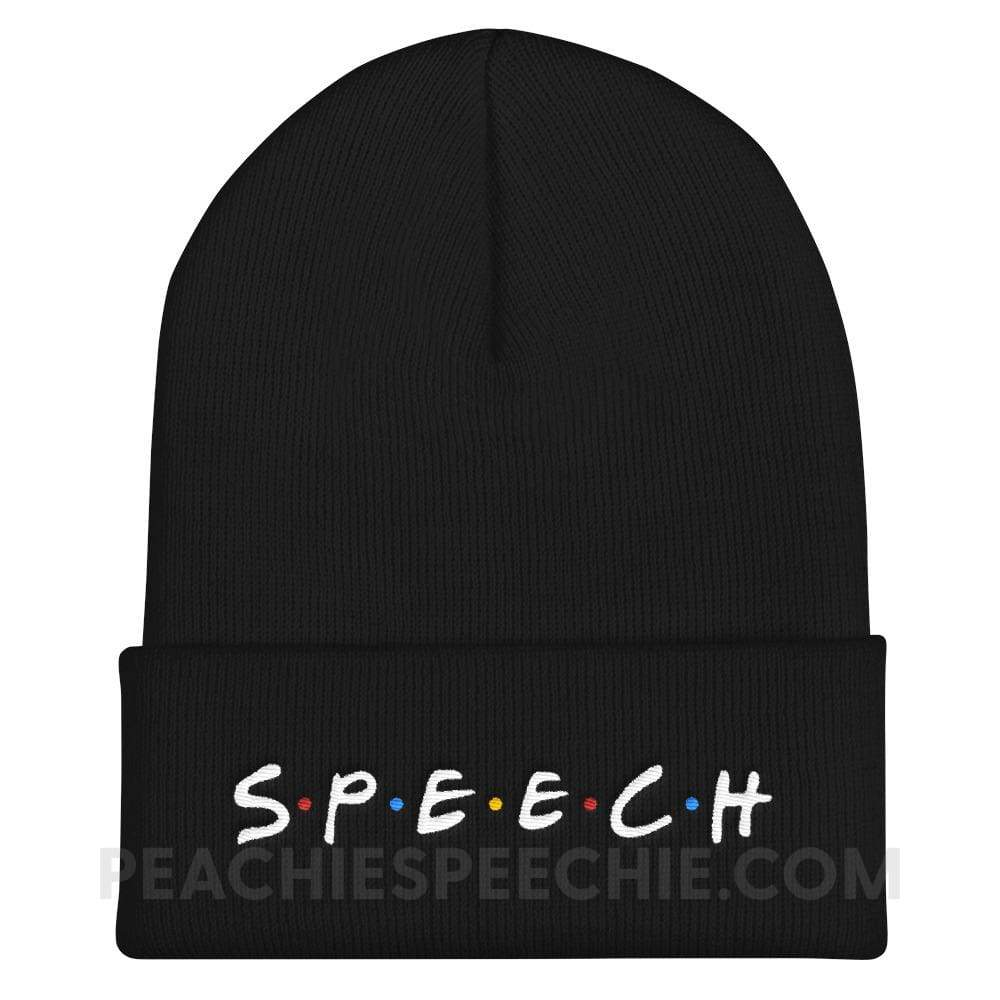 Cozy Beanie - Embroidered - Hats Cozy Beanie - Embroidered peachiespeechie.com
