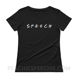 Womens Scoopneck Tee - Black / XS - T-Shirts & Tops Womens Scoopneck Tee peachiespeechie.com