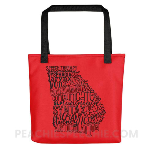 Tote Bag | Georgia SLP - Black - Bags Tote Bag | Georgia SLP peachiespeechie.com