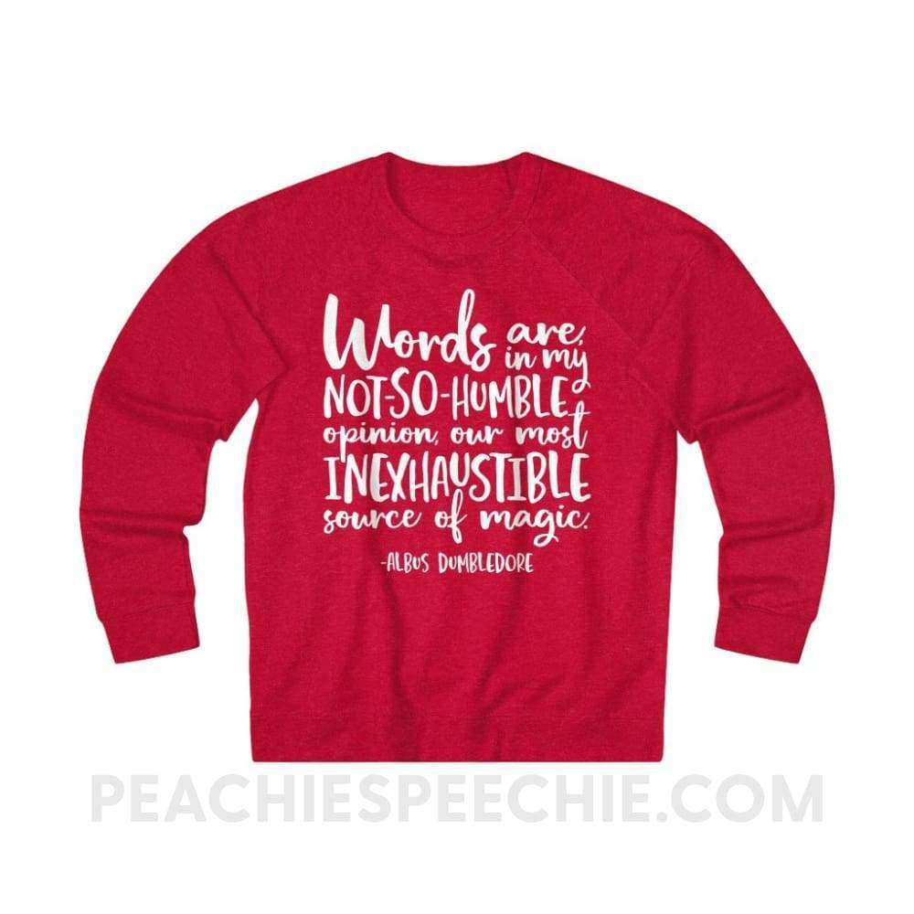 Terry Sweatshirt | Magic Quote - L / Red Heather - Hoodies & Sweatshirts Terry Sweatshirt | Magic Quote peachiespeechie.com