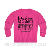 Load image into Gallery viewer, Terry Sweatshirt | Magic Quote - XS / Heliconia Heather - Hoodies & Sweatshirts Terry Sweatshirt | Magic Quote peachiespeechie.com