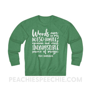 Terry Sweatshirt | Magic Quote - XS / Kelly Heather - Hoodies & Sweatshirts Terry Sweatshirt | Magic Quote peachiespeechie.com